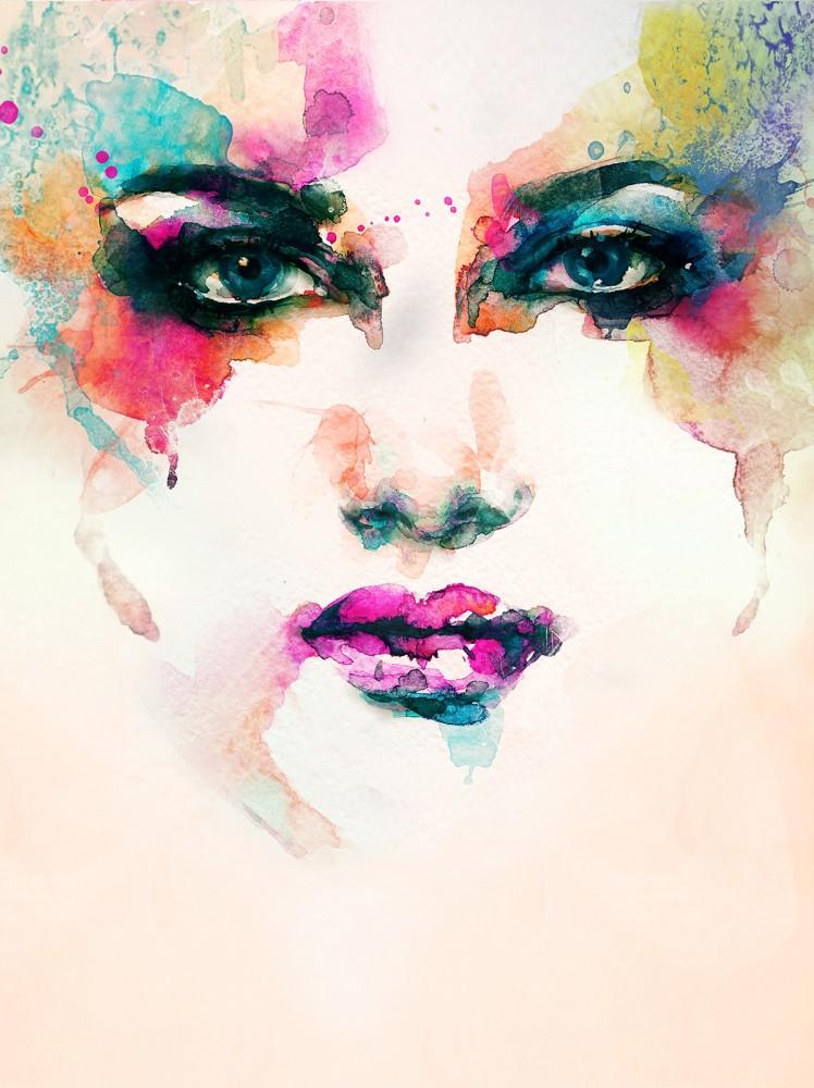 Női arc poszter, fotótapéta, Vlies (206x275 cm, álló)