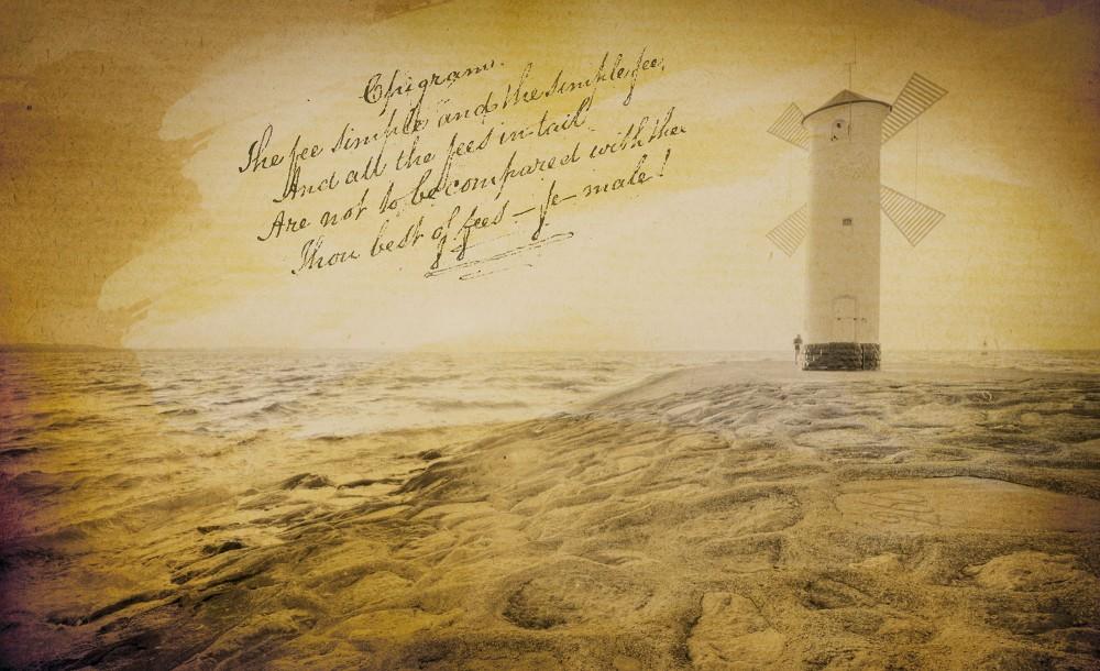 Világító torony anzix poszter, fotótapéta Vlies (152,5 x 104 cm)