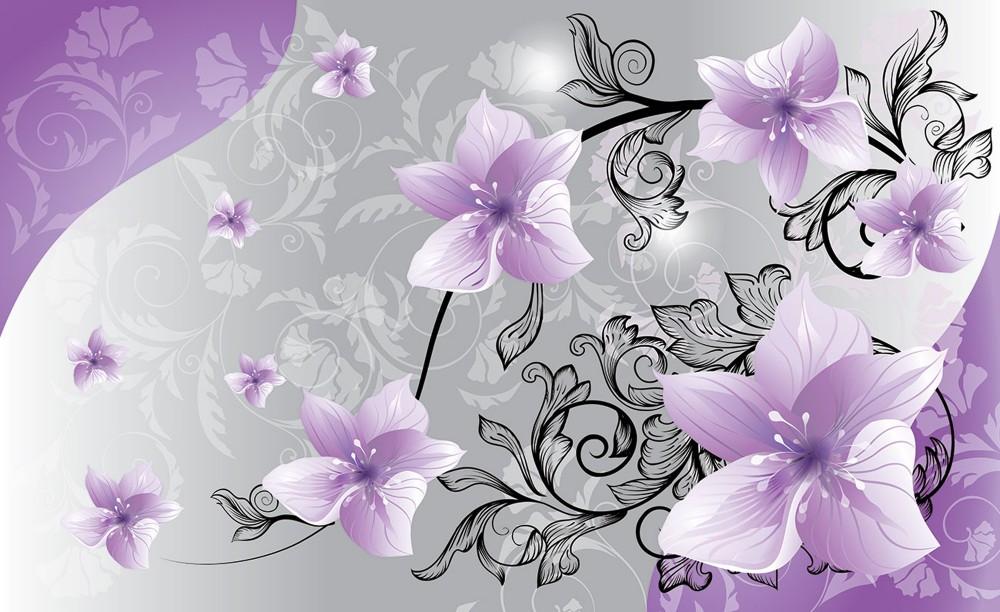 Virág minta poszter, fotótapéta 1238 több méretben, alapanyagban