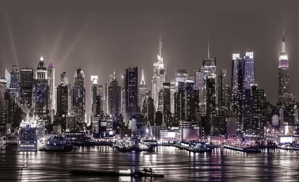New York éjjel fotótapéta több méretben, alapanyagban