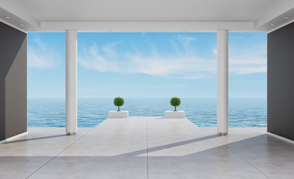 Terasz, kilátás a tengerre poszter, fotótapéta több méretben, alapanyagban