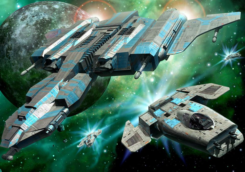 Űrhajók fotótapéta több méretben, alapanyagban
