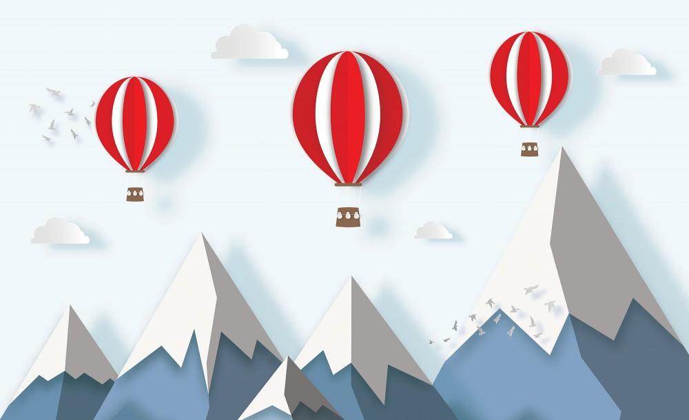 Hőlégballonok fotótapéta több méretben, alapanyagban