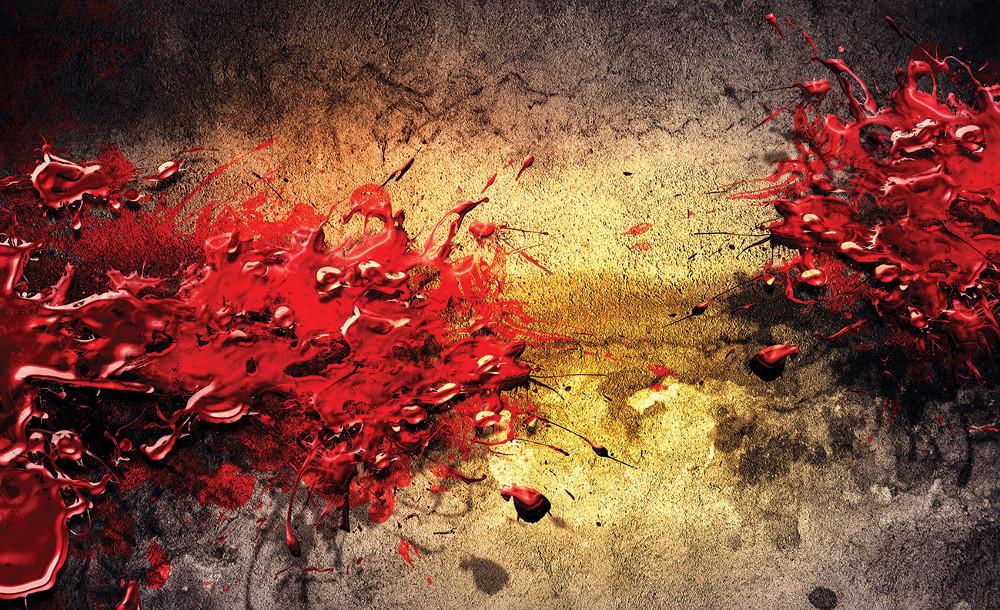 Egy csöpp piros poszter, fotótapéta több méretben, alapanyagban