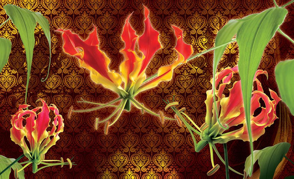 Red lilies poszter, fotótapéta több méretben, alapanyagban