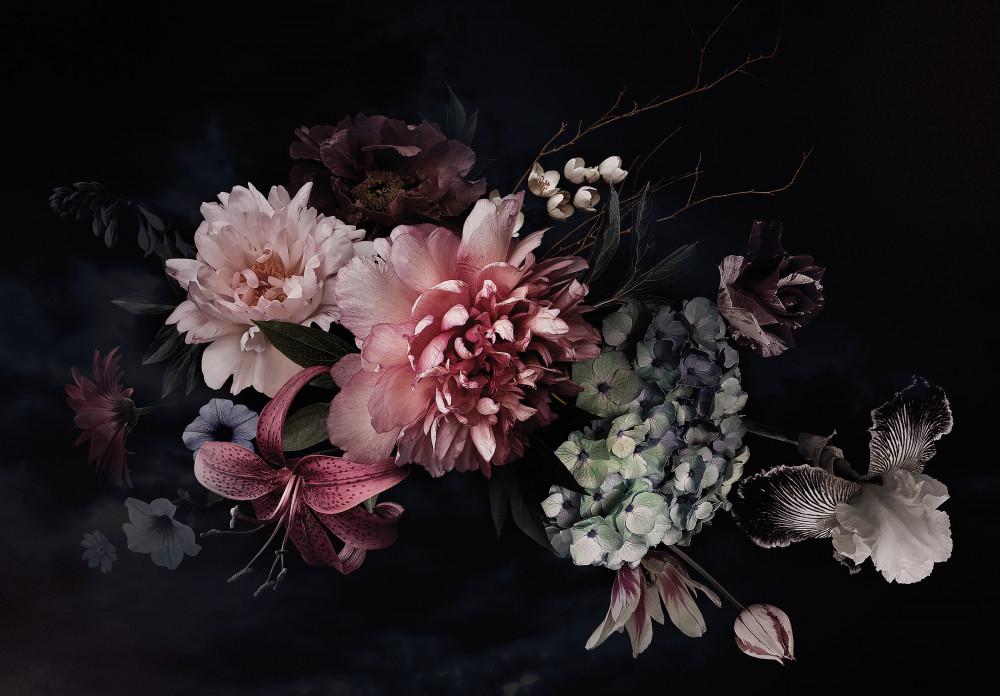 Virágok poszter, fotótapéta Vlies (208 x 146 cm)