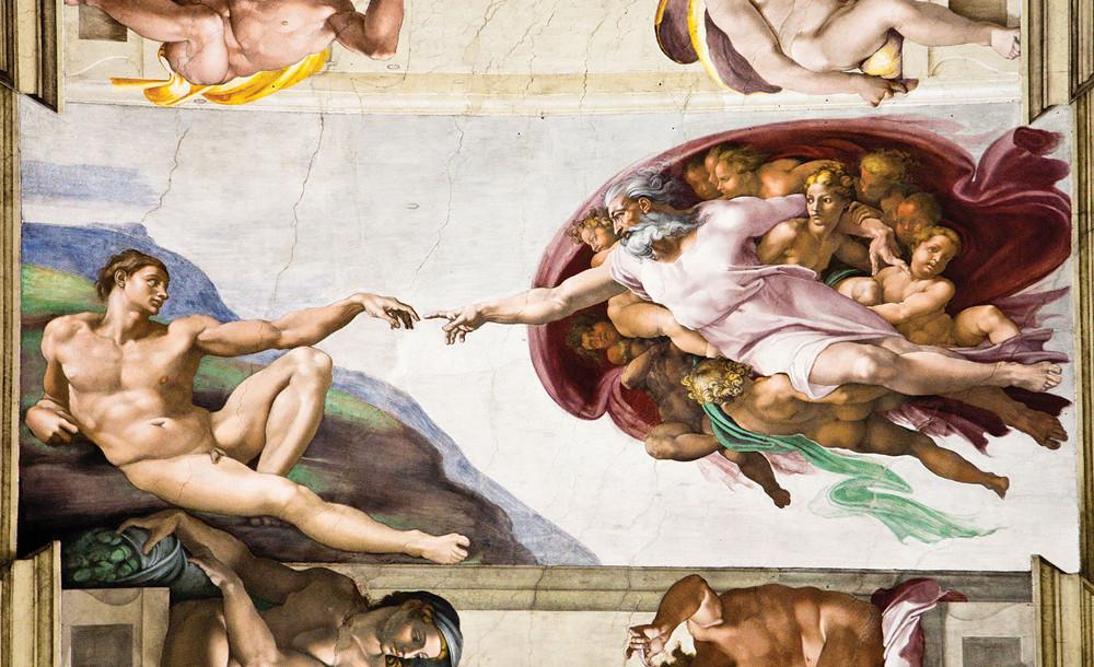 Ádám teremtése poszter, fotótapéta 1521 több méretben, alapanyagban