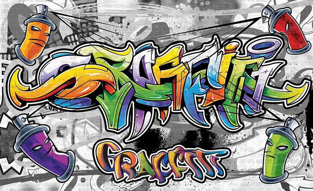 Graffiti poszter, fotótapéta, Vlies (104 x 70,5 cm)