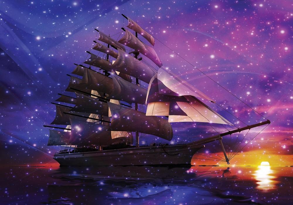 Hajó poszter, fotótapéta Vlies (152,5 x 104 cm)