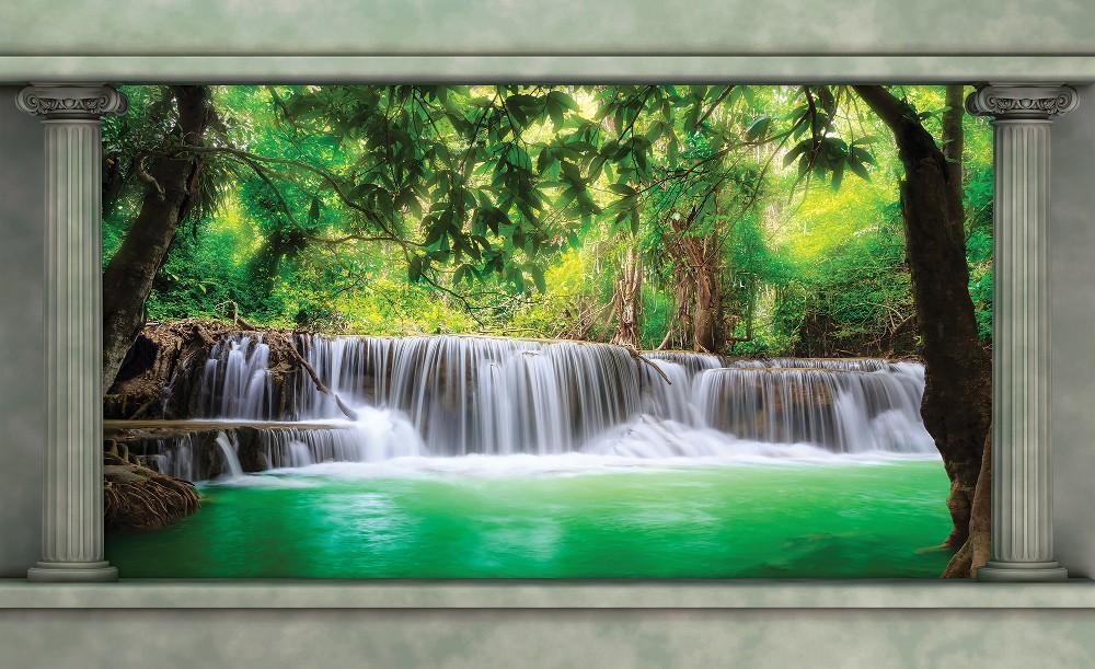 Vízesés poszter, fotótapéta (256 x 184 cm)