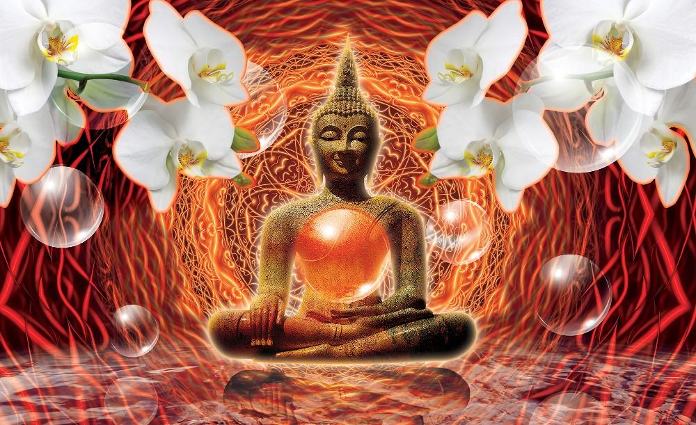 Buddha poszter, fotótapéta Vlies (208 x 146 cm)