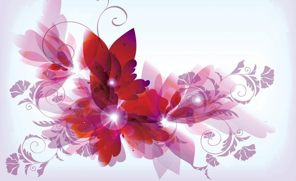 Virág minta fotótapéta több méretben, alapanyagban